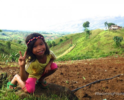 little girl in Mindanao